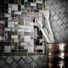 iridescent glass tile backsplash kitchen modern with beach glass