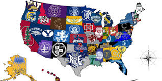 Map The United States by Map The Most Selective College In Each State College College