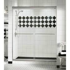Maax Shower Door 44 Opulence 1 4 Maax Two Panel Frameless Glass Sliding Shower Door
