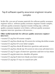 Pharmaceutical Quality Control Resume Sample by Top 8 Software Quality Assurance Engineer Resume Samples 1 638 Jpg Cb U003d1431418611