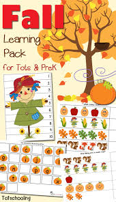 fall learning pack for toddlers u0026 preschoolers totschooling