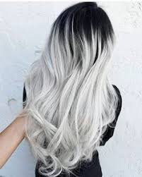 silver hair frosting kit black to gray silver balayage hair tips hair care pinterest