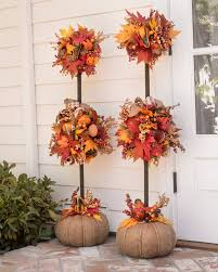 Christmas Topiaries Autumn Acorn Wreath And Topiary Balsam Hill