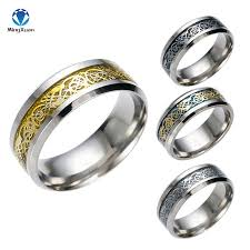 metal rings jewelry images Vintage gold free shipping dragon 316l stainless steel mens rings jpg