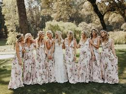 beach riot founder u0027s napa farm wedding floral bridesmaid dresses