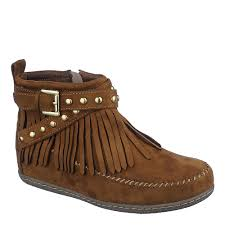 s boots with fringe sheikh dahlia s womens flat ankle boots