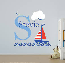 Amazon Wall Murals V C Designs Nautical Sailing Boat Name Wall Stickers Girls Room