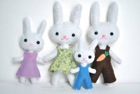 stuffed bunnies for easter felt patterns for easter iris