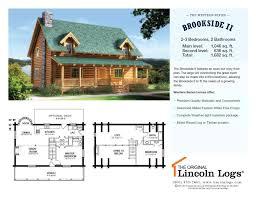 log home floorplan brookside ii the original lincoln logs