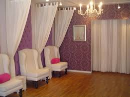 i like how the curtains are hung possibly to separate areas w o