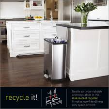 simplehuman rectangular recycler 46 l fingerprint proof