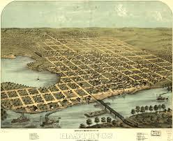 Atlanta Street Map Birdseye View Of Hastings Minnesota 1867