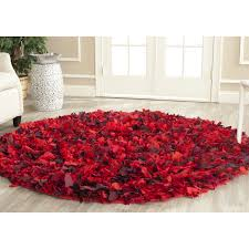 Red Round Rugs by Floors U0026 Rugs Red And Grey Furry Circle Rugs For Contemporary