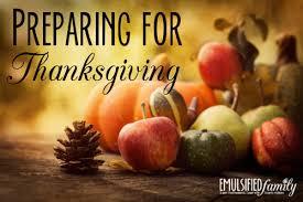preparing for thanksgiving emulsified family