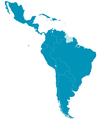 Mexico And South America Map by American Caribbean Federation Of India Lacfi