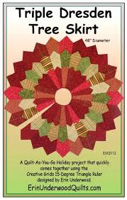Peppermint Twist Tree Skirt Using Tree Skirts Patterns Dresden Tree Skirt Pattern The