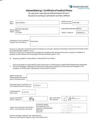 helseerklaring i certificate of medical fitness