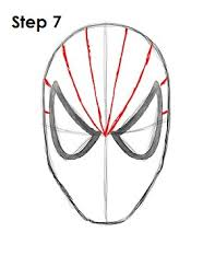 drawn face spiderman pencil color drawn face spiderman