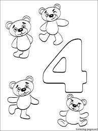preschool coloring pages with numbers number 4 coloring page getcoloringpages com