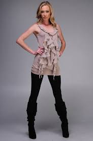 chic clothing the shabby chic clothing ruffle tunic top by monoreno 34 at