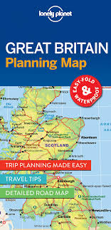 road map sle lonely planet great britain planning map co uk lonely