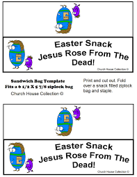 easter egg with bible ziplock bag snack