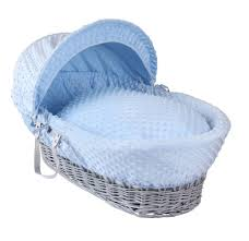 Moses Basket Coverlet Dimple Grey Wicker Moses Basket