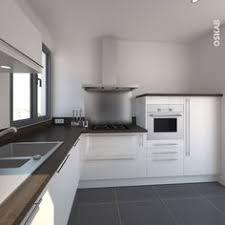cuisine moderne et design cuisine moderne blanche avec façade aux lignes design et sans