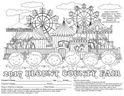blount county fair coloring contest blount county oneonta agri