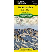 Map Of Death Valley 221 Death Valley National Park Trail Map National Geographic Store