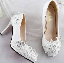 Wedding Shoes 2017 Aliexpress Com Buy Lace Rhinestones Wedding Shoes For Women