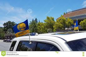 Car Flag Warriors Car Flags Editorial Photography Image Of Francisco