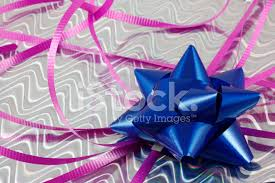 blue foil wrapping paper blue bow on shiny foil wrapping paper stock photos freeimages