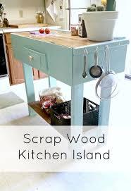 diy kitchen island from scrap wood hometalk