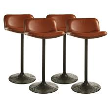 modern adjustable synthetic leather swivel bar stools likable