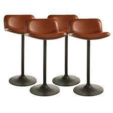 modern adjustable synthetic leather swivel bar stools likable