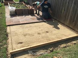 Installing Pavers Patio How To Install A Paver Patio The Foundation Of My Raised Garden