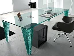 glass desk table atlas executive desk with top mm thick legs consisting of sections of hand glass desk table