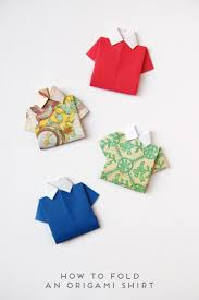 how to fold an origami shirt origami shirt simple origami and