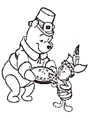 pooh thanksgiving coloring pages get coloring pages