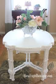 Shabby Chic Side Table Mess To Shabby Chic Coffee Table The Salvaged Boutique