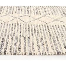 Scandinavian Area Rugs by Chunky Braided Casellena Braided Grey Wool Floor Area Rug Free