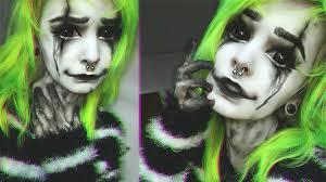 psycho clown halloween tutorial youtube
