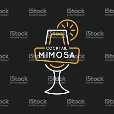 cosmopolitan drink drawing illustration for bar menu alcoholic cocktail mimosa vector line