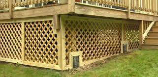 How To Build A Shed Ramp On Uneven Ground by How To Trim Lattice Around A Deck Foundation Today U0027s Homeowner