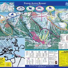 Map Of Colorado Ski Resorts by Fernie Alpine Trail Map Liftopia
