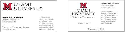 business and stationery the miami brand ucm miami university
