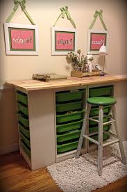 diy craft table ikea diy craft room table ikea trofast storage shelving and unfinished