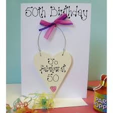 personalised 50th birthday card by country