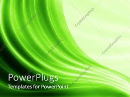 powerpoint template green wave like lines with different shades